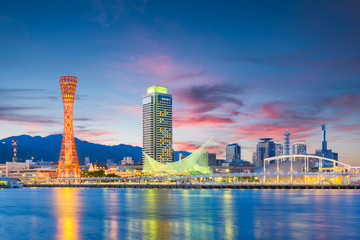 Kobe, Japan skyline at the port Fototapete