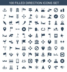 100 direction icons