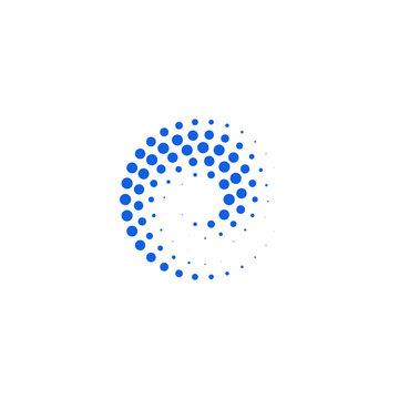 Abstract Halftone Dots Logo