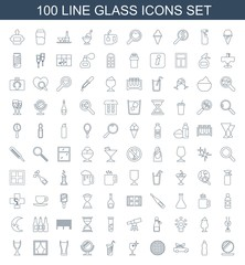 100 glass icons