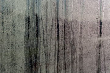 Condensation on a glass pane adstract pattern