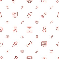 anatomy icons pattern seamless white background