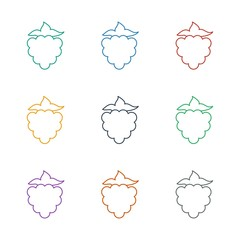 mulberry icon white background