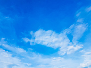 white cloud on blue sky background Nature Landscape.in thailand summer.parks/outdoor.