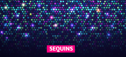 Shining Sequins Abstract Background. Glittering Texture. Glamour Design.