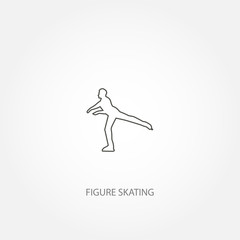 figure skater on a ice vector icon