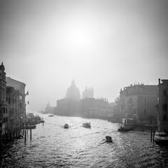 Canal Grande in Schwarz Weiss, Venedig, Italien