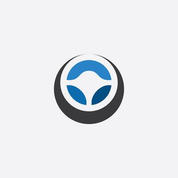 steering wheel icon logo vector symbol