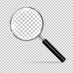 Magnifier with transparecy vector