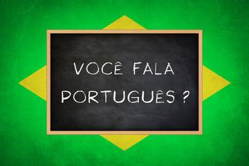 Do you speak Portuguese - Brazil flag concept