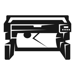 Photo printer icon. Simple illustration of photo printer vector icon for web design isolated on white background