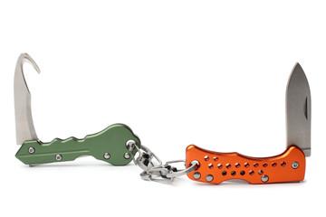 Keychain clasp knifes