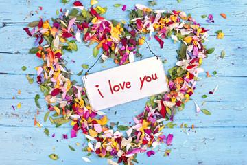 ich liebe Dich - Blütenherz