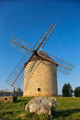 Windmill to Mont-Dol, Brittany, France