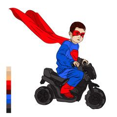 child masquerade new year. superhero
