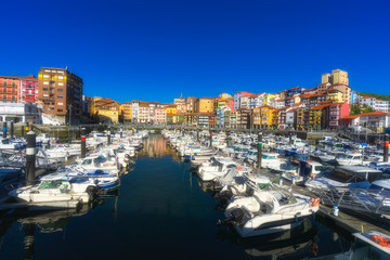 Wall Mural - Bermeo port in Basque Country