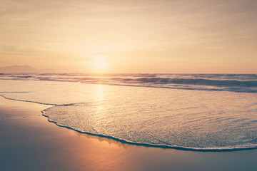 summer background of vintage beach shore