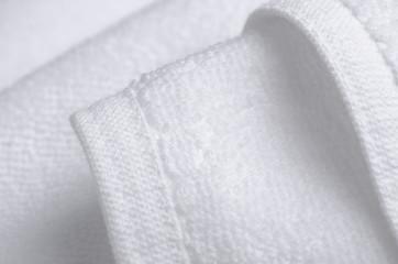 White towel macro fabric material soft bath blur background