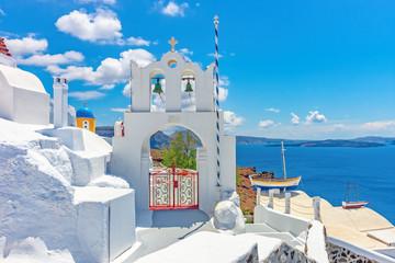 Obraz Architecture on the island of Santorini, Greece, Europe - fototapety do salonu