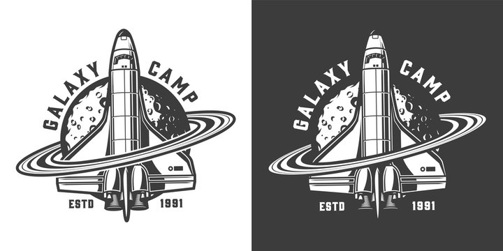 Vintage monochrome space badge
