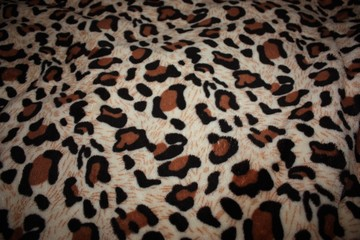 leopard pattern on fabric blanket