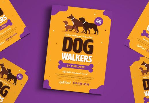 Dog Walker Flyer Layout