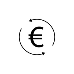 circle, arrow, euro icon. Element of finance illustration. Signs and symbols icon can be used for web, logo, mobile app, UI, UX