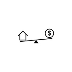 swing, house, dollar icon. Element of finance illustration. Signs and symbols icon can be used for web, logo, mobile app, UI, UX