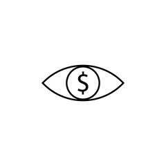 eye, dollar icon. Element of finance illustration. Signs and symbols icon can be used for web, logo, mobile app, UI, UX