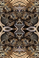 Artistic 3d computer generated unique smooth abstract colorful energetic fractals artwork background