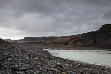The changing landscape in Iceland
