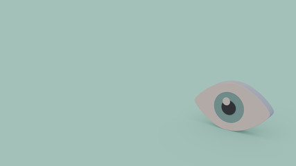 3d icon of eye