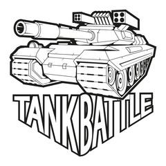 battle tank logo, vector graphics to design