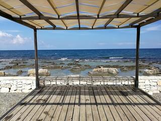 Polignano a Mare - Gazebo sulla spiaggia di San Vito