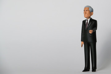 A Special Counsel Robert Mueller action figure is displayed at the Brooklyn product design company FCTRY's offices in New York