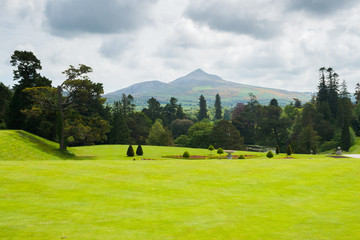 The Sugarloaf mountain and Powerscourt gardens in Wicklow, Ireland