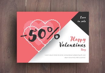Valentine's Day Sale Card Layout