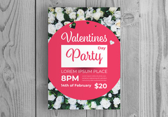Valentine's Day Party Invitation Layout