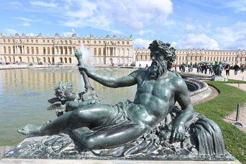 Palace and Park of Versailles, France.