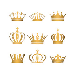 Set of gold crowns.