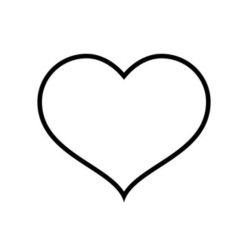 Heart line icon. Valentine's day heart and concept respresenting love and romance. Vector Illustration