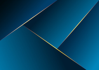 Abstract geometric dark blue background. Vector illustration