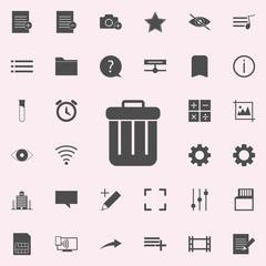 trash box icon. web icons universal set for web and mobile