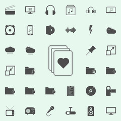 a stack of game cards icon. web icons universal set for web and mobile