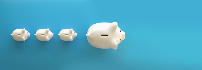 Piggy Bank save money investment Wall mural