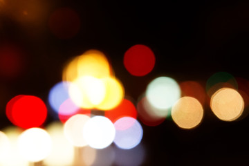 holiday bright bokeh blurred colorful background.