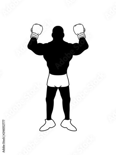 Kämpfer Posen Boxer Handschuh Boxhandschuh Sport Boxen Ring