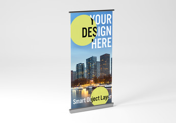 Rollup Ad Banner Mockup