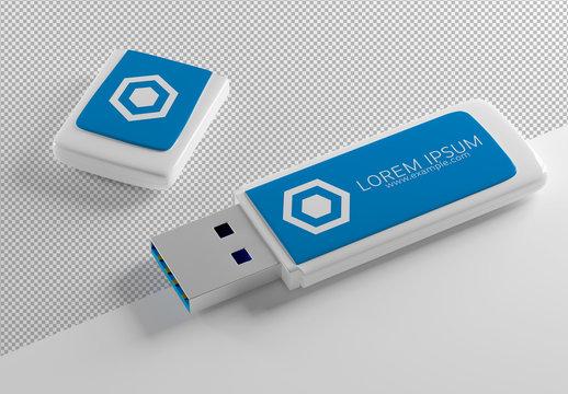 USB Keychain Mockup