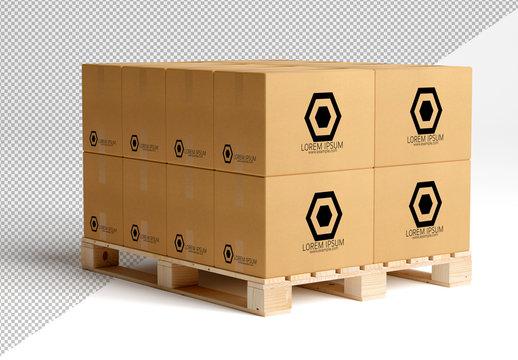 Cardboard Boxes Mockup